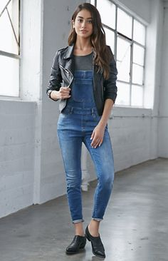 Bullhead Denim Co. Soho Blue Knit Denim Skinny Overalls at PacSun.com