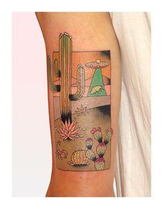 Brindi cactus tattoo