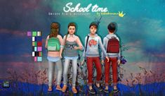 School time backpack at In a bad Romance • Sims 4 Updates