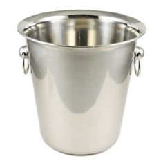 Wine/Champagne Bucket - 4 Qt. Polished Stainless Steel