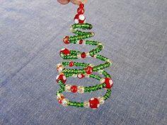 DIY Spiral Beaded Christmas Tree Ornament