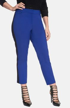 26e9f753c3e45 ELOQUII  Kady  Side Stripe Ankle Pants (Plus Size) available at  Nordstrom