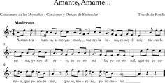Amante, Amante  Cancionero de Las Montañas-Canciones de Santander