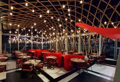 SUSHISAMBA. just below duck & waffle - 38th and 39th floor in the Heron Tower building.  Has outdoor patio!