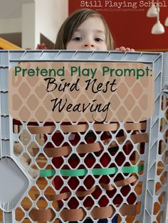 Bird Nest Weaving: A Pretend Play Prompt with Fine Motor Practice from Still Playing School