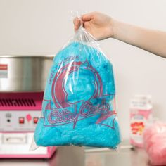 Carnival King 202502504 11 x 18 Printed Quick Pak Cotton Candy Bag - Carnival Booths, Blue Cotton Candy, Candy Display, Future School, Candy Bags, Cotton Bag, Mini Bag, Printed Cotton, Drawstring Backpack