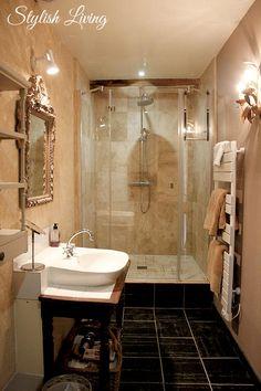 Badezimmer Manoir de Kerledan