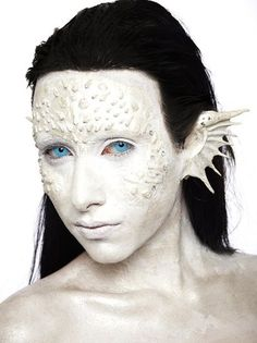 Wild White Mermaid Halloween Costume Makeup Ideas