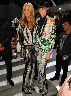 Coco Rocha y Heidi Klum