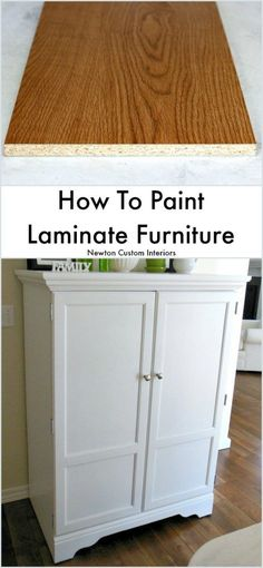 How To Paint Laminate Furniture from Newton Custom Interiors