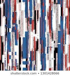 Striped Fabrics, Grunge, Moda Retro, Vector Stock, Artwork, Pattern, Vectors, Bright Colors, Gingham