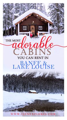 The Cutest Cabin Rentals in Banff and Lake Louise, Alberta – jenn explores – travel, landscape and lifestyle photographer % – Honeymoon Holiday Destinations, Vacation Destinations, Vacation Trips, Canada Destinations, Dream Vacations, Banff Cabins, Calgary, Banff Canada, Alberta Canada