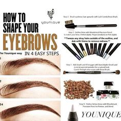 Brows - they square your face! Many different ways to enhance them. Younique's Brow Gel/Pencil or even use Younique's Moodstruck Mineral Pigments