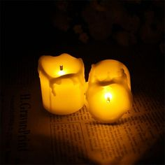 12pcs Flameless Candles With Timer/Electric Amber Yellow Candle LED Tea Light Home Dinner Room Party Decor/Big Votive Candles-in Candles from Home & Garden on Aliexpress.com | Alibaba Group