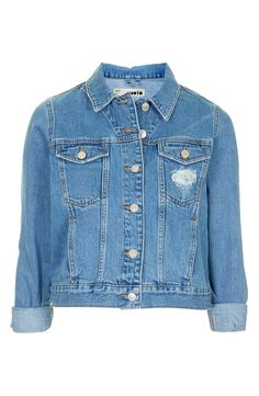 Keep it light and breezy for spring with this moto denim jacket from Topshop!