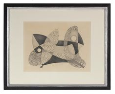 """80864- Jane Mitchell, c. late 1970s, Graphite on Paper, 18""""x28"""" Framed"""