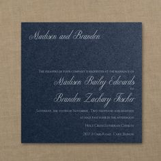 Red, White and Blue Wedding Ideas - Classic Beauty - Imperial Invitation - Navy Shimmer | Occasions In Print, LLC (Invitation Link - http://occasionsinprint.carlsoncraft.com/Wedding/Wedding-Invitations/3214-MM1332732368-Classic-Beauty--Imperial-Invitation--Navy-Shimmer.pro)