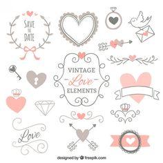 Vintage Vectors, Photos and PSD files Doodle Drawings, Doodle Art, Tarjetas Diy, Bujo Doodles, Doodle Lettering, Bullet Journal Inspiration, Printable Stickers, Book Journal, Love Design
