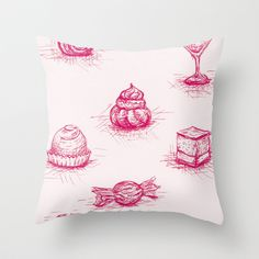 Sweet Throw Pillow by Fru Kuhari - $20.00  http://society6.com/frukuhari