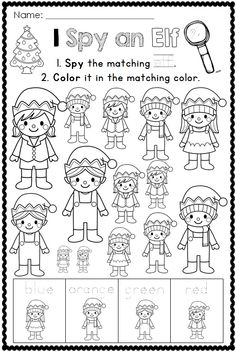 I SPY CHRISTMAS PRINTABLES For Kindergarten Click To See More