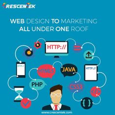 Know Crescentek more closely! Now we are your one-stop solution as #WebDesign to #Marketing is under one roof.