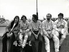 Manou Zurini- Jean-Pierre Beltoise - Johnny Rives - Henri Pescarolo  and Francois-Cevert