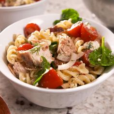 This Chicken Pasta Salad Is Loaded With Fresh Ingredients Chicken Pasta Recipes, Easy Pasta Recipes, Pasta Salad Recipes, Healthy Chicken Recipes, Baby Food Recipes, Easy Meals, Dinner Recipes, Cooking Recipes, Salad Chicken