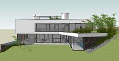 Esquisse pour une villa minimaliste à Wavre