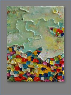 Landscape- Original Mixed Media Abstract Painting..