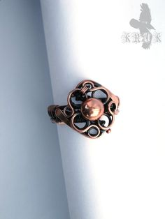 Wire wrapped ring Copper wire ring Handmade jewelry by SergKruk