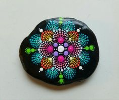 Mandala Stone/Painted Rock/Hand Painting by by P4MirandaPitrone
