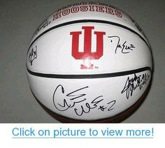 Indiana Hoosiers Team Signed Basketball Jordan Hulls Christian Watford Hollowell - Autographed College Basketballs