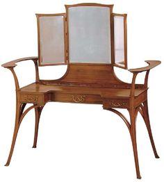 Art Nouveau dressing table by Charles Plumet & Tony Selmersheim. 1900.: Art Nouvea