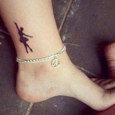 Dancer tattoo, ballet tattoo, ballerina tattoo❤️❤️❤️