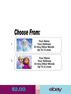 Labels #ebay #Crafts Personalized Address Labels, Mens Fashion Online, Frozen Princess, Word Up, Names, Crafts, Ebay, Manualidades, Handmade Crafts