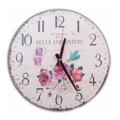 MDF Duvar Saati - Kelebek Ve Çiçekler