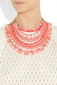 Rosantica|Raissa 24-karat gold-dipped coral necklace|NET-A-PORTER.COM
