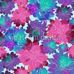 Blumenmeer - Prachtvolles, sommerliches Design mit Blüten.