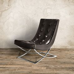 "Nico 28"" Leather Armless Chair in Libby Espresso 