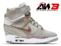 buy popular df49c 2bdfc Chaussures Montante Nike Pas Cher Pour Femme Nike Air Revolution Sky Hi GS  Brun 599410-