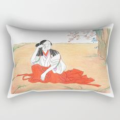 Self-portrait as a Chinese Rectangular Pillow