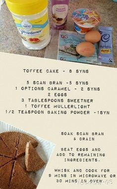 Scan bran toffee cake #messyfairy