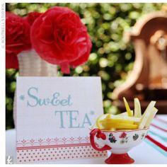 1950s Retro-Themed Bridal Shower – Tea