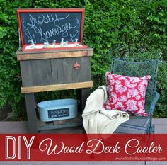 How To Build A Wood Deck Cooler