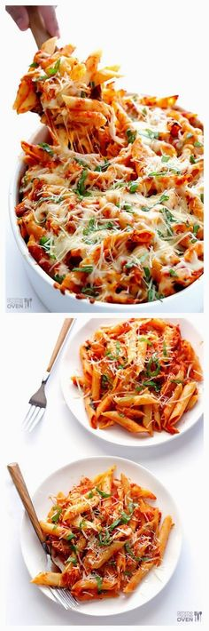 CHICKEN PARMESAN BAKED ZITI   #casserole #potatoes #recipe
