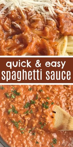 Spaghetti sauce the easy way! This recipe for spaghetti sauce uses Italian sausage, seasonings, and convenient cans of pasta sauce and alfredo sauce. Spaghetti Sauce Easy, Sausage Spaghetti, Spaghetti Recipes, Pot Pasta, Pasta Dishes, Food Dishes, Salsa Alfredo, Alfredo Sauce, Beef Recipes