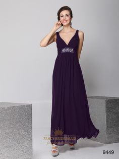 black v-neck chiffon bridesmaid dress - Google Search