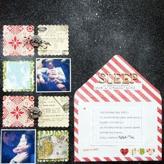 heavenly sleep- lovely scalloped squares and mix of photos and pp