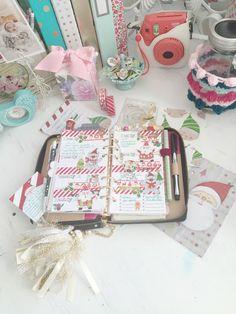 Violet's Christmas Planner Set Up using Brimbles goodies