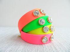 Neon cuff bracelets by Handemadeit, $14.90